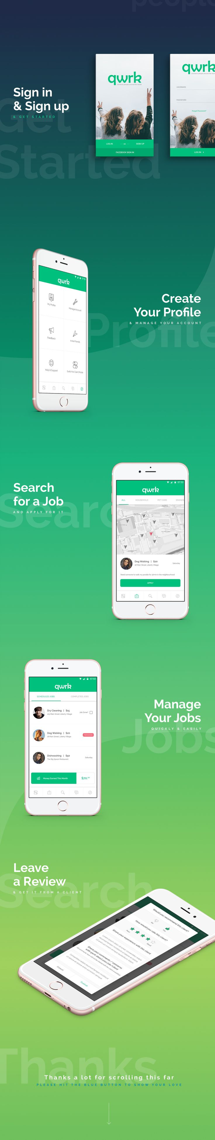 App Design | qwrk on Behance