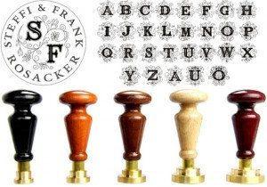 Siegelstempel - Monogramm Siegel Stempel mit Rundtext - ein Designerstück von jo-bergengruen bei DaWanda