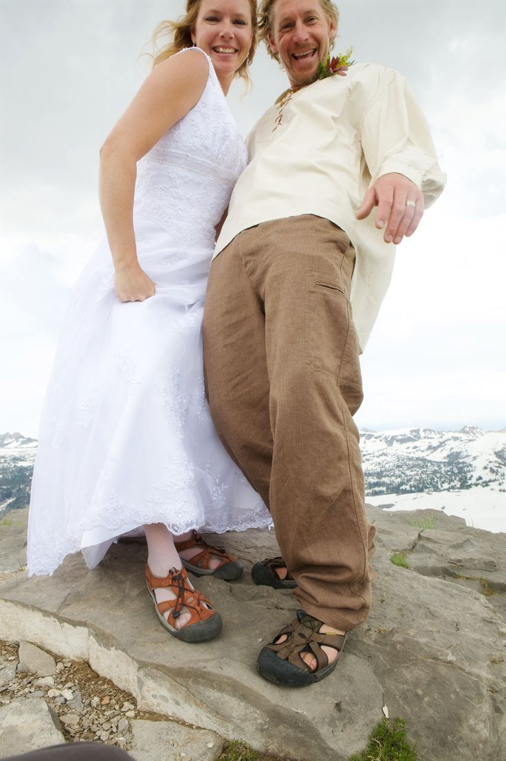 Getting hitched in KEEN Venice sandals! $95