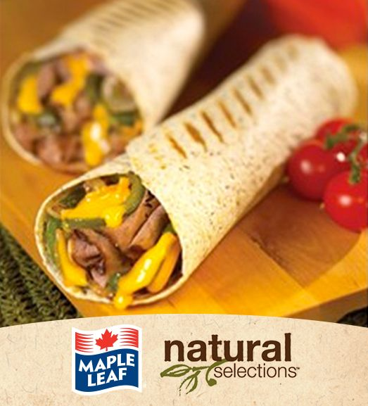 Grilled Philly Cheese Steak Wrap #NaturalSelections @MapleLeafFoods