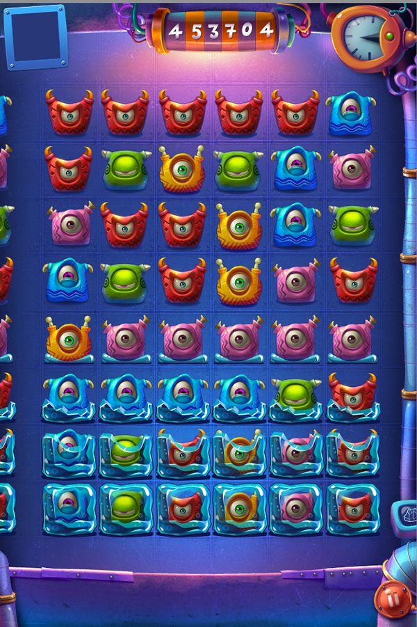 Game screens on Behance