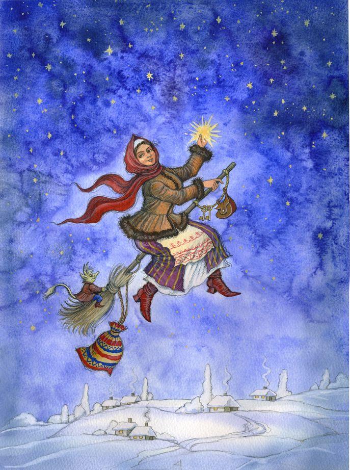 Гоголь ночь перед рождеством картинки иллюстрации
