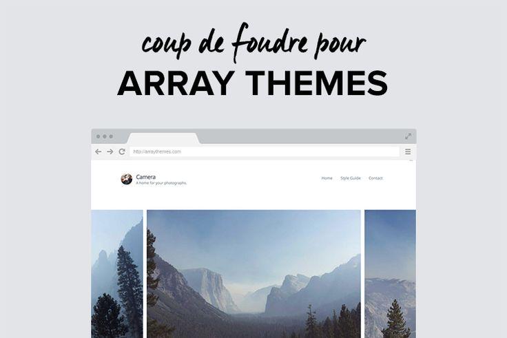Thèmes #WordPress #minimalistes: -20% chez Array Themes! #codepromo #blog exclusif!