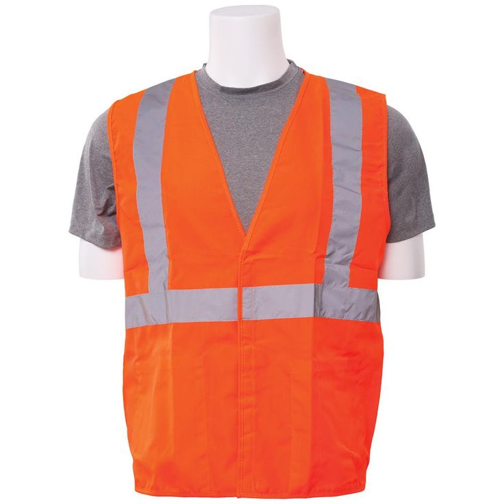 S388 M Class 3 Poly Oxford Hi Viz Orange Vest, Size: Medium, Oranges/Peaches