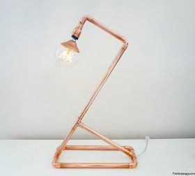 DIY une lampe en cuivre design et épurée DIY copper lamp