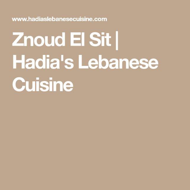 Znoud El Sit | Hadia's Lebanese Cuisine