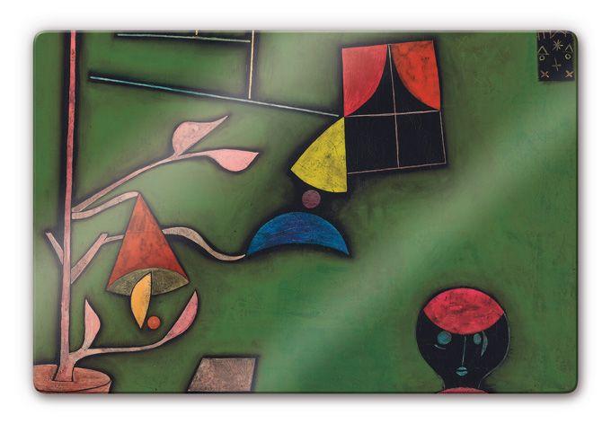 Glasschilderijen Paul Klee - Stilleven met Planten en Vensters