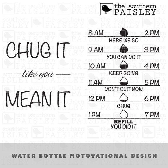 Water Bottle Motivational Design Svg Eps Dxf Ai For