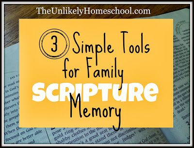 3 Simple Tools for Family Scripture Memory