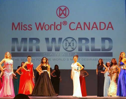 Vancouver, Canada, Miss World Canada 2015 in my white mermaid   dress - .