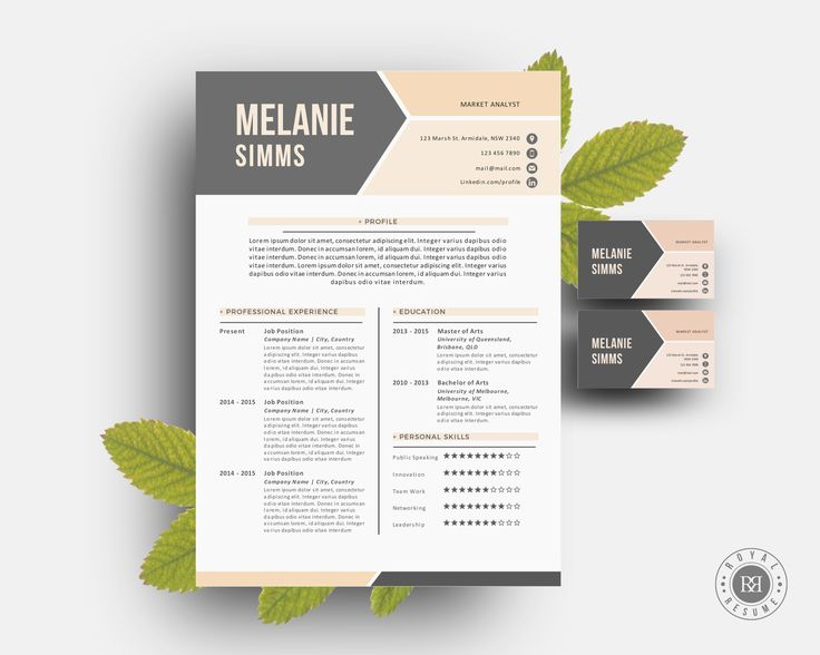 2 p resume pack for Word by Inkpower on @creativemarket