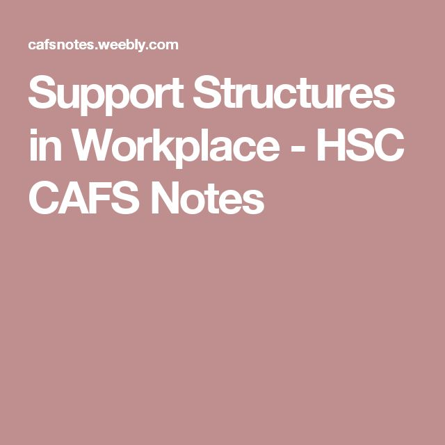 Support Structures in Workplace - HSC CAFS Notes