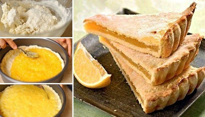 Osvěžující citrónový dort. Těsto je připravené ze zakysané smetany, proto je velmi křehké a chuťově famózní.