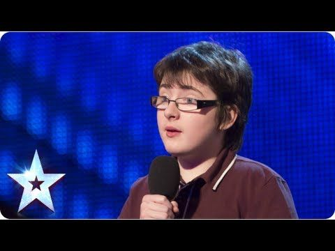 "Fourteen-year-old Jack Carroll opened his audition for ""Britain's Got Talent"" with this line, and the act that followed was easily one of the most memorable -- and hilarious -- of the popular British reality show. The young aspiring comedian has cerebral palsy and faced Simon Cowell and the other judges using a mobility aid on last week's episode. http://www.huffingtonpost.com/2013/04/21/jack-carroll-14yearold-br_n_3128241.html"
