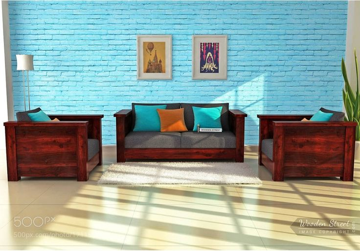Wooden Sofa Set available online at Wooden Street by woodenstreetofficialbangalore