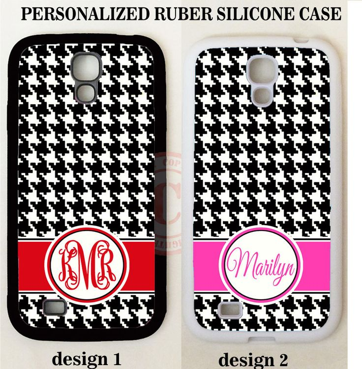 BLACK RED PINK HOUNDSTOOTH MONOGRAM PHONE Case For Samsung Galaxy S8 S7 NOTE 5 4 #UnbrandedGeneric