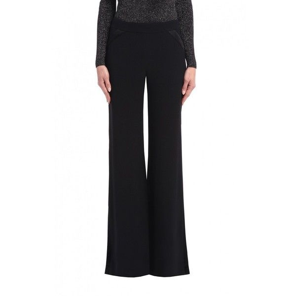 Cushnie et Ochs Side Slit Tuxedo Pants ($895) ❤ liked on Polyvore featuring pants, black, tailored, tuxedo stripe pants, striped tuxedo, cushnie et ochs, dinner suit and tailored pants