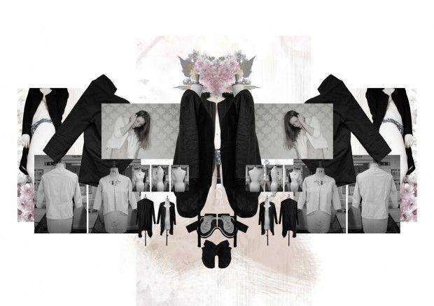 Fashion Portfolio layout - jacket & coat design development - fashion sketchbook; fashion design student work // Oda Svendgard