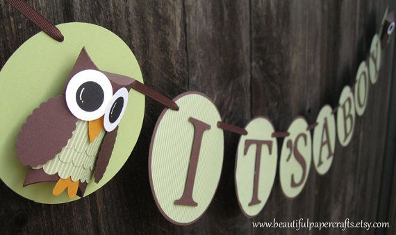 Just bought this on Etsy for my best friend's baby shower at the end of July  Owl Baby Shower Banner--It's A Boy Owl Banner- Baby Shower Decorations