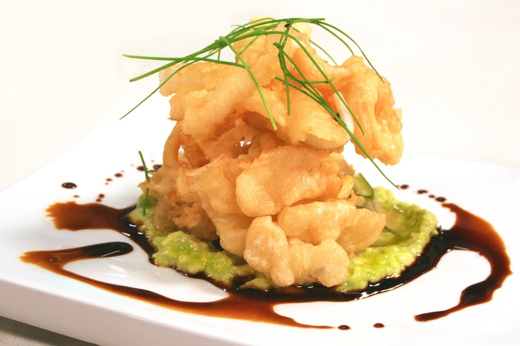 Tempura Squid, Cucumber Relish & Japanese Guacamole. A ...