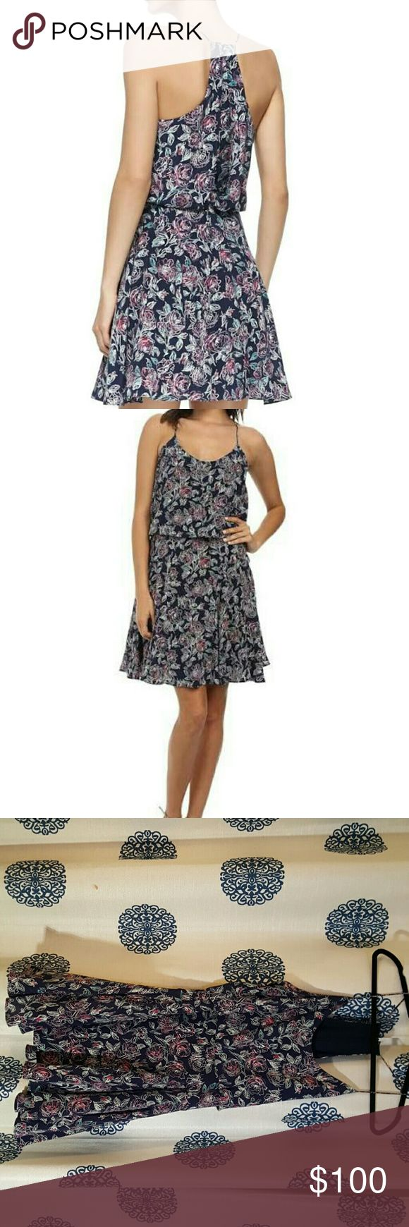 Joie Nanon Dress Joie Nanon Dress, Navy Dress, racer back, rose pattern Joie Dresses