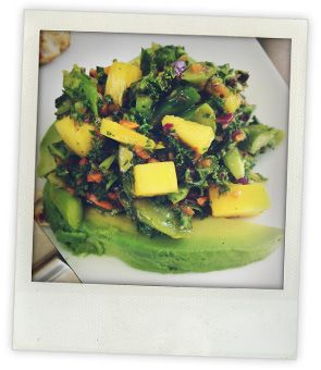 Pineapple-Avocado Salad with Kale & Red Onion #goopmake