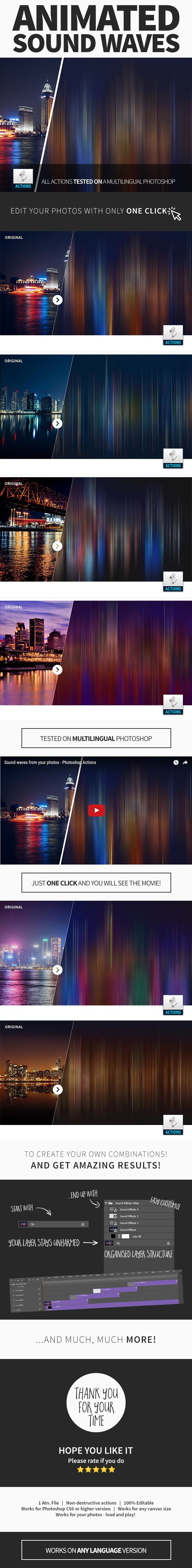 Animated Sound Waves Photoshop Action - #Photo Effects #Actions Download here: https://graphicriver.net/item/animated-sound-waves-photoshop-action/19743935?ref=alena994