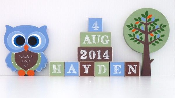 Personalised Block Set - Woodland Friends
