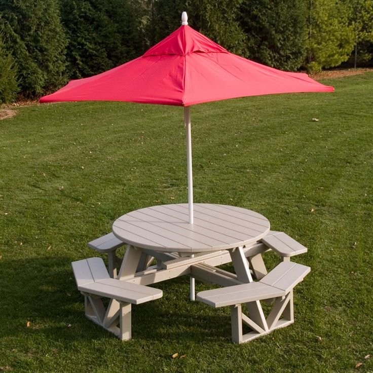 Outdoor POLYWOOD® Park Recycled Plastic 53 in. Octagon Commercial Picnic Table - PH53BL