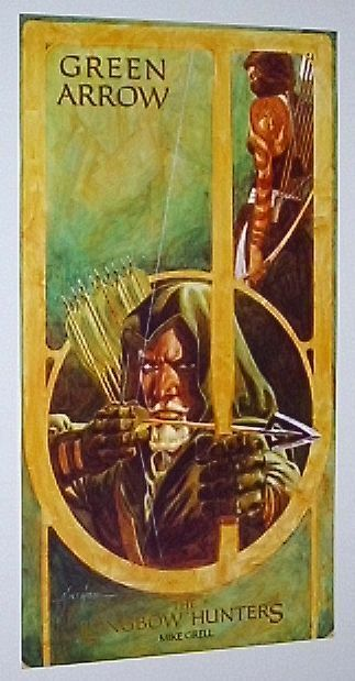 Rare vintage original 1987 Green Arrow DC Comic Universe poster:1980's/Grell art