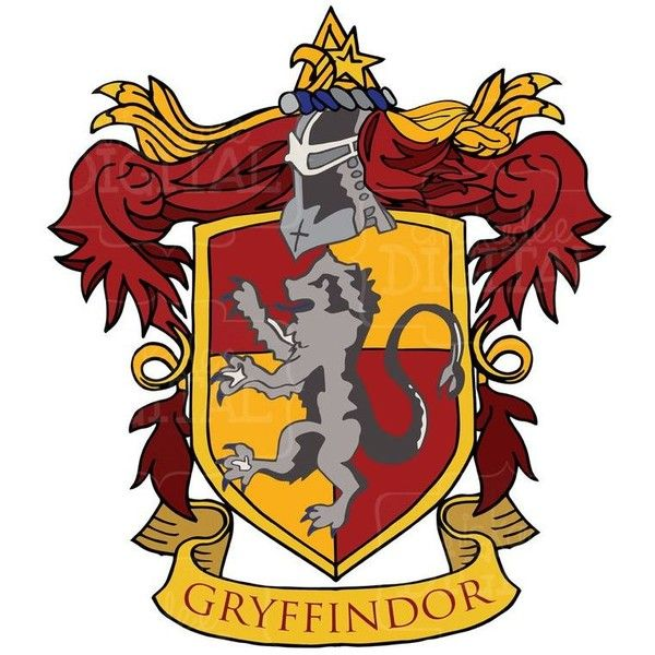 Harry Potter Gryffindor House Crest Clipart, Gryffindor Clip art, Red... ❤ liked on Polyvore featuring harry potter, gryffindor, other, hogwarts and hp