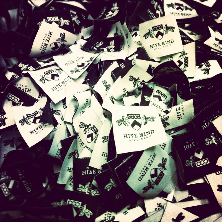 Woven Labels we made for @Dominique Hanke from Hive Mind Millinery