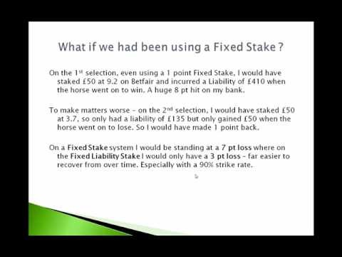 VIdeo 2 - Bet On Horse Race - Racing Profits - Setting Your Correct Staking Levels - In this video I share how to set your staking levels when betting to ensure you never go bust again