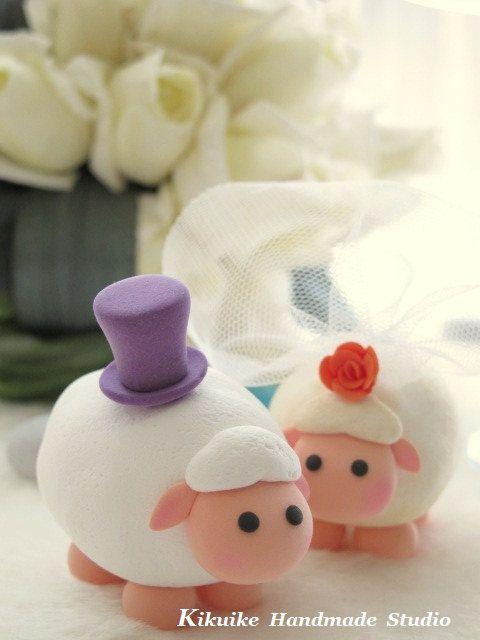 LOVE ANGELS Wedding Cake Topper-love sheep