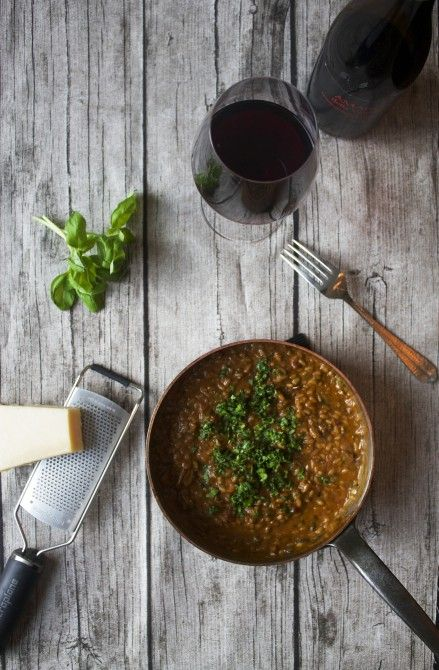 Risotto med amarone og svampe // Risotto with amarone and moshrooms