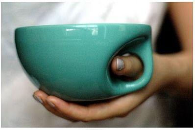 thumb hole mugs.