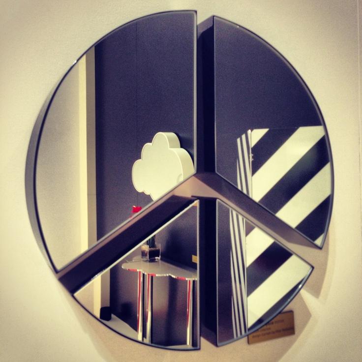 #pace mirror, design Garilab by Piter Perbellini for #altreforme @iSaloni 2013 #interior #home #decor #homedecor #furniture #aluminium