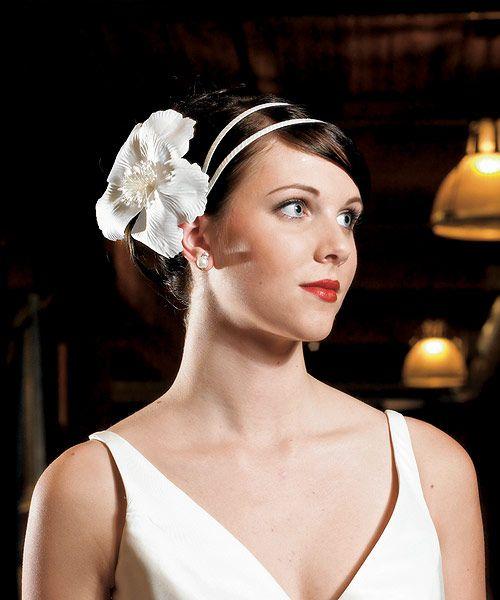Fiore decorativo per Capelli 1 Un cerchietto con un bellissimo fiore per i capelli della sposa. - Matrimonio, Accessori Cerimonia, Accessori Sposa e Sposo