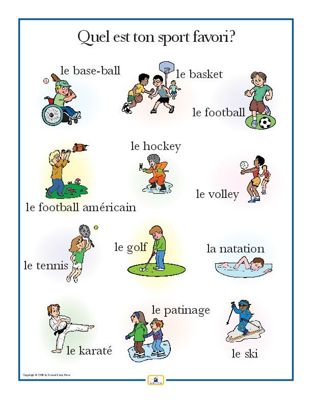 french sports poster french education french language learning learn french spanish language. Black Bedroom Furniture Sets. Home Design Ideas