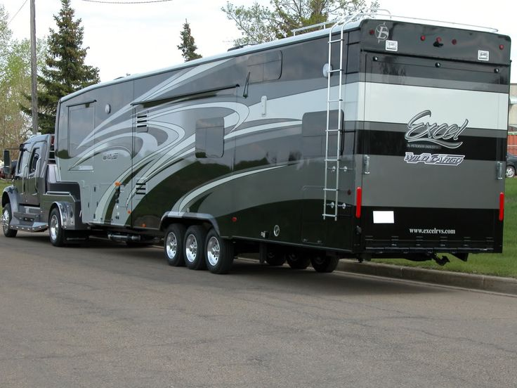 139 best ideas about fifth wheels on pinterest semi for Motor home toy haulers