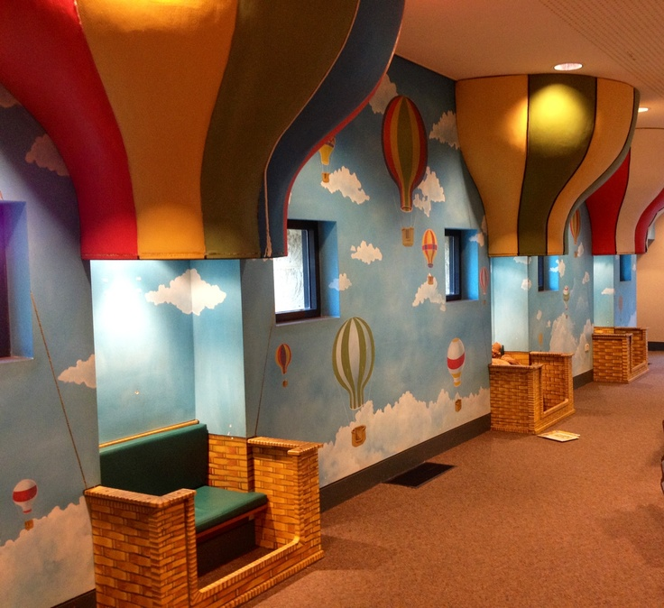 Cute Hot Air Balloon Reading Nook In The Childrens Section At Joondalup