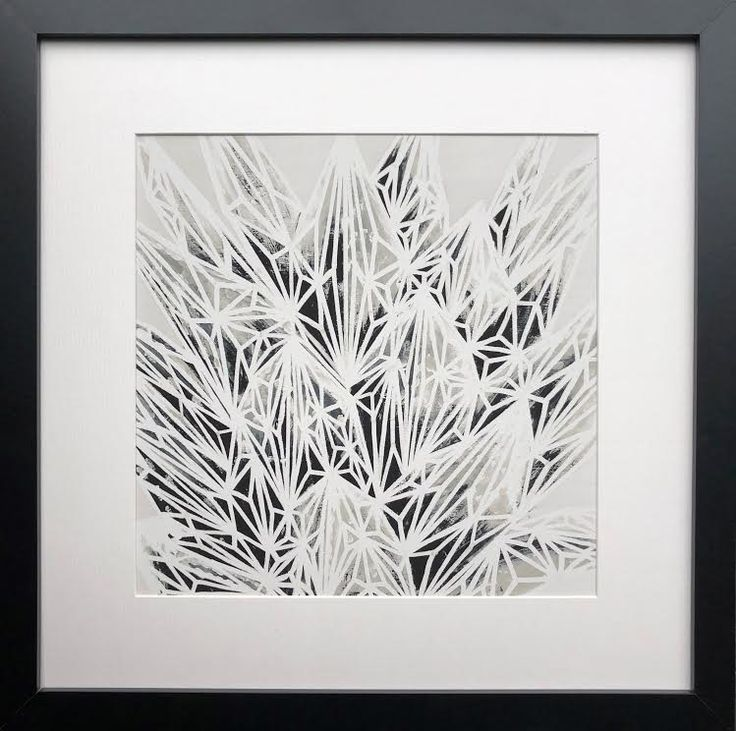 """Hfasciata"" graphic and modern take on botanicals by Natalia Heiser. Available through Seattle Art Source"