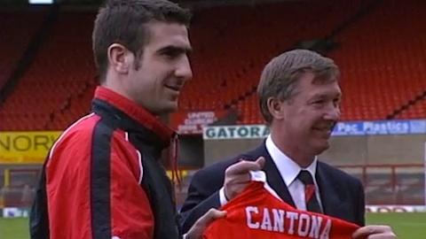 Sir. Alex Ferguson signing Eric Cantona