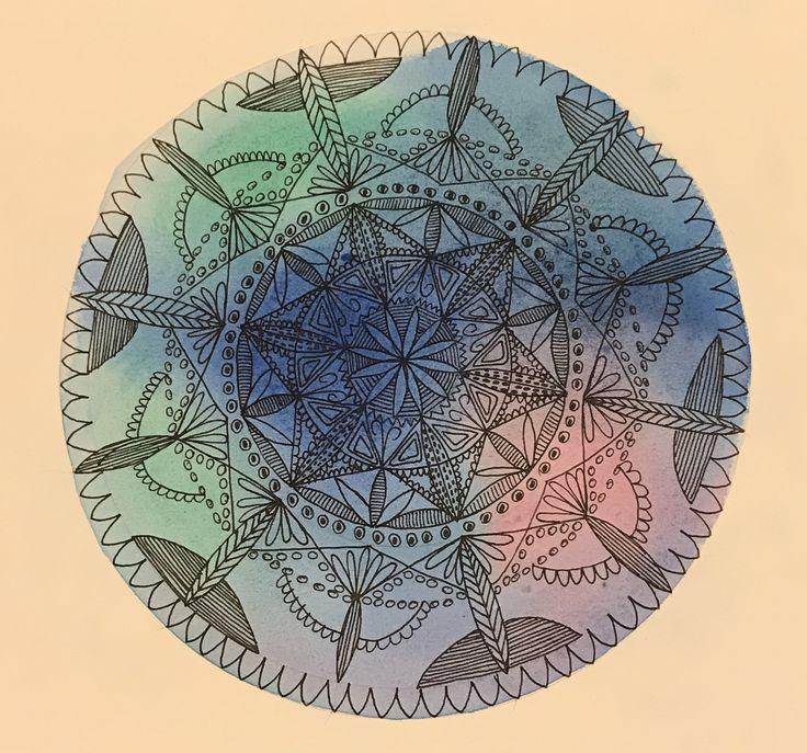 Sylvia Marris, Watercolour mandala