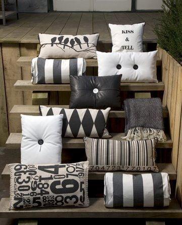 Nice display for pillows.