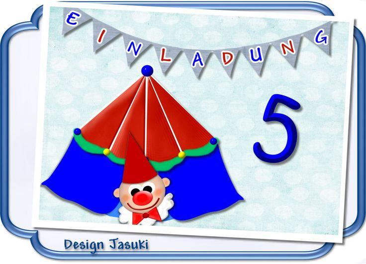 Einladungskarte Kindergeburtstag Zirkus