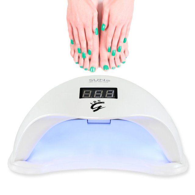 I.B.N 48W UV LED Gel Curing Nail Lamp Nail Dryer with Timer Sensor Digital Screen  Professional Manicure Pedicure Salon Nail Light to Cure Hard Gel / LED Gel / Builder Gel / UV Gel Nail Polish