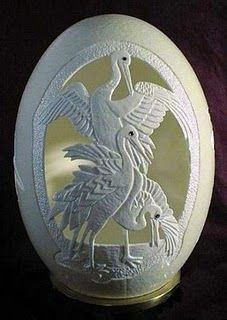 Gary LeMaster, the egg shell sculptor