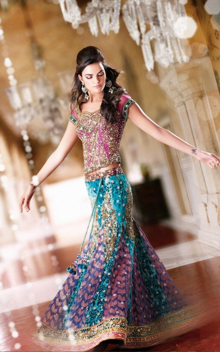 Can't choose just one color? Wear the #Rainbow!  Colorful #Lehenga via AnokhiSarees.co.UK #Leicester