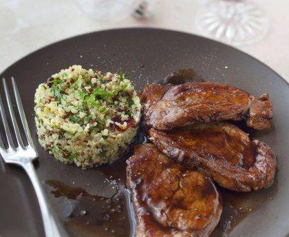Grenadin de veau au vinaigre balsamique et au miel : Recette de Grenadin de veau au vinaigre balsamique et au miel - Marmiton